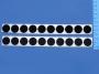 Suchý zip samolepící průměr 20mm kruhový výsek černá
